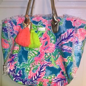 NWOT Lilly Pulitzer beach tote